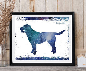 living room decor, dog print, and instant download image