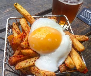 beer, brunch, and chips image