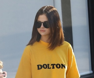 selena gomez, outfit, and yellow image