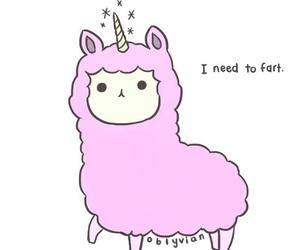 unicorn, pink, and fart image