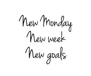 quotes, goals, and monday image