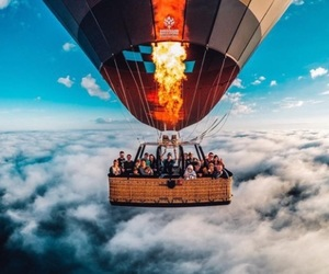 aesthetic, hot air balloon, and travel image