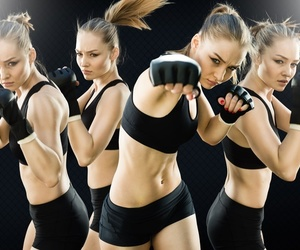health, kickboxing, and martial arts image