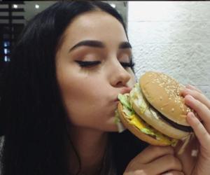 girl, food, and burger image