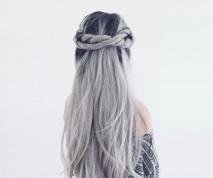 hair, hairstyle, and haïr image