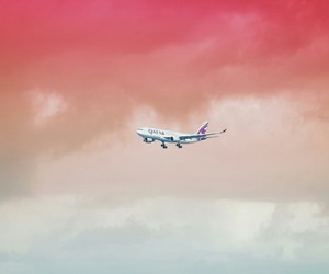 airplane, colors, and gradient image