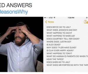 haha and 13 reasons why image