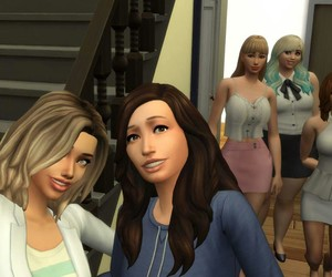 girls in the house and the+sims image