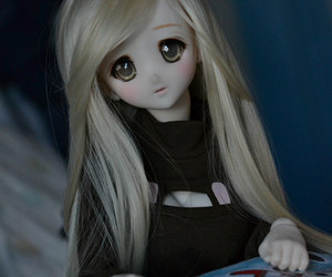 bjd, blonde, and girl image