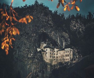 castle, cave, and nature image
