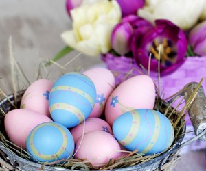decoration, easter, and eggs image