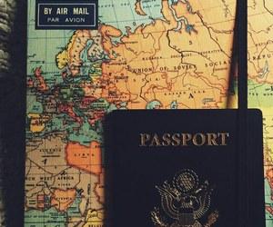 passport, travel, and map image
