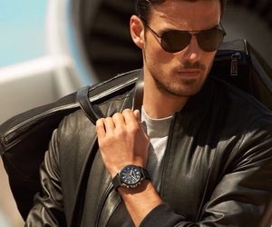 handsome, leather, and luxury image