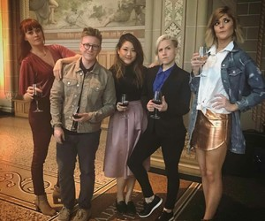 tyler oakley, mamrie hart, and grace helbig image