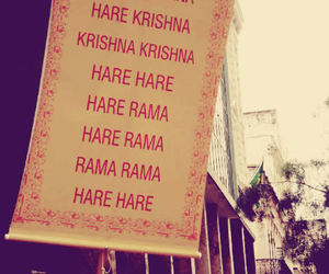 hare krishna, india, and peace image