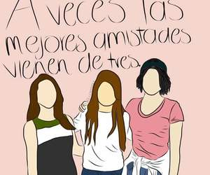 amigas and words image
