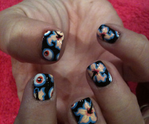 cool, nail, and floral image