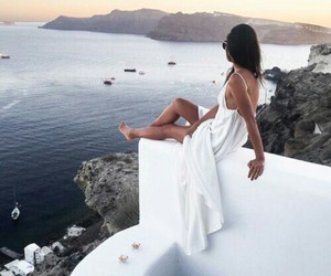 girl, dress, and travel image