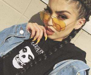 fashion, glasses, and braids image