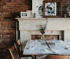 cafe, home decor, and rustic image