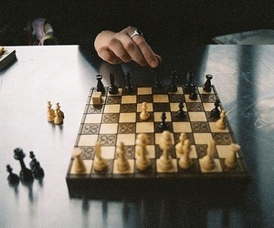 chess, chessboard, and gryffindor image