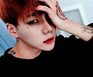 korean boy, beautiful, and tattoo image