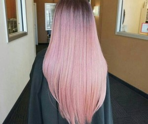 pink, hair, and lovely image