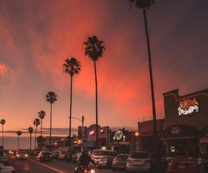 california, sky, and sunset image