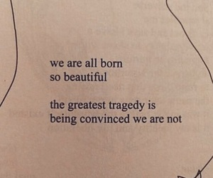 quote, beautiful, and love yourself image