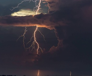 nature, sky, and lightning image