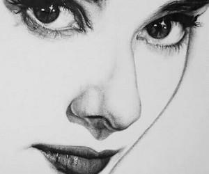 audrey hepburn, art, and drawing image