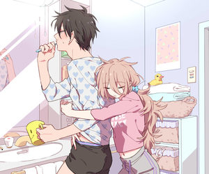 anime, love, and couple image