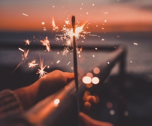 light, photography, and sparkler image