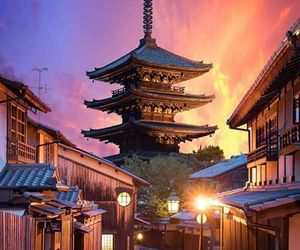 asia, japan, and sunset image