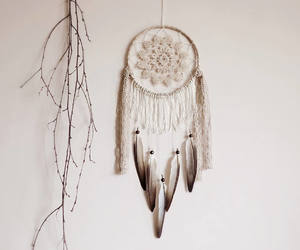beige, bohemian, and dream catcher image