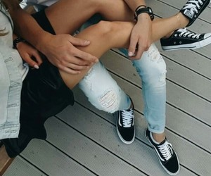 converse, legs, and vans image