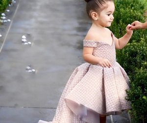 baby, dress, and flower girl dress image