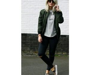 fashion, bomber jacket, and girl image