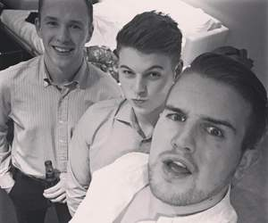 black and white, boys, and funny image