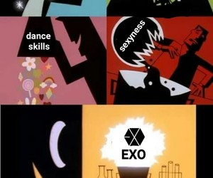 kpop, exo+, and meme image