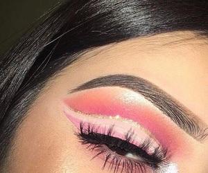 eyebrows, makeup, and pink image