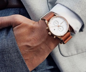 gentleman, stylish, and watch image