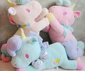 unicorn, pastel, and kawaii image