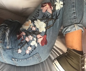 converse, indie, and jeans image