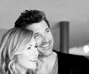 ellen pompeo, derek shepherd, and meredith grey image