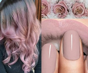 flower, hair, and nails image