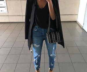black, mirror, and outfit image