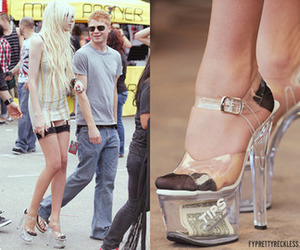 heels, money, and shoes image