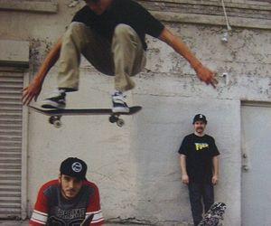 boy, skate, and skateboard image