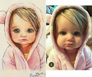 cute, baby, and draw image